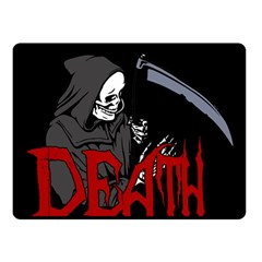 Death   Halloween Fleece Blanket (small)