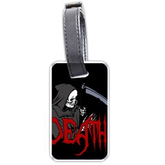 Death   Halloween Luggage Tags (two Sides) by Valentinaart