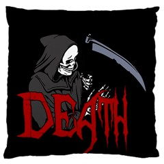 Death   Halloween Large Cushion Case (two Sides) by Valentinaart
