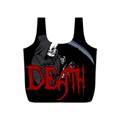Death   Halloween Full Print Recycle Bags (s)  by Valentinaart
