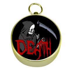 Death   Halloween Gold Compasses by Valentinaart