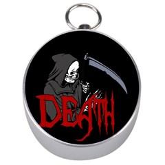 Death   Halloween Silver Compasses by Valentinaart
