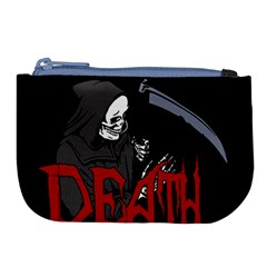 Death   Halloween Large Coin Purse by Valentinaart