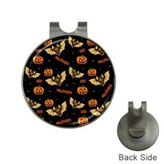 Bat, Pumpkin And Spider Pattern Hat Clips With Golf Markers by Valentinaart