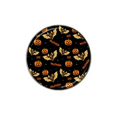 Bat, Pumpkin And Spider Pattern Hat Clip Ball Marker by Valentinaart