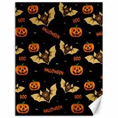 Bat, Pumpkin And Spider Pattern Canvas 12  X 16   by Valentinaart