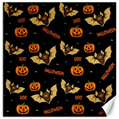Bat, Pumpkin And Spider Pattern Canvas 16  X 16   by Valentinaart