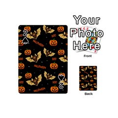 Bat, Pumpkin And Spider Pattern Playing Cards 54 (mini)  by Valentinaart