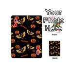 Bat, pumpkin and spider pattern Playing Cards 54 (Mini)  Front - DiamondQ