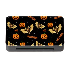 Bat, Pumpkin And Spider Pattern Memory Card Reader With Cf by Valentinaart