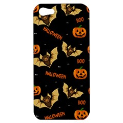 Bat, Pumpkin And Spider Pattern Apple Iphone 5 Hardshell Case by Valentinaart