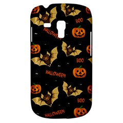 Bat, Pumpkin And Spider Pattern Galaxy S3 Mini by Valentinaart