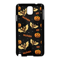 Bat, Pumpkin And Spider Pattern Samsung Galaxy Note 3 Neo Hardshell Case (black) by Valentinaart