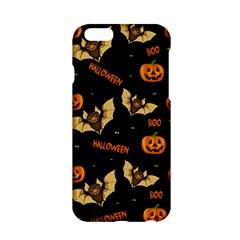 Bat, Pumpkin And Spider Pattern Apple Iphone 6/6s Hardshell Case by Valentinaart