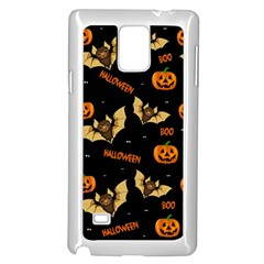 Bat, Pumpkin And Spider Pattern Samsung Galaxy Note 4 Case (white) by Valentinaart