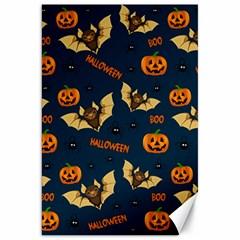 Bat, Pumpkin And Spider Pattern Canvas 20  X 30   by Valentinaart