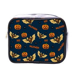 Bat, Pumpkin And Spider Pattern Mini Toiletries Bags by Valentinaart
