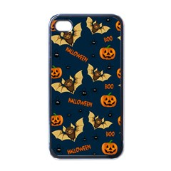 Bat, Pumpkin And Spider Pattern Apple Iphone 4 Case (black) by Valentinaart