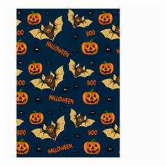 Bat, Pumpkin And Spider Pattern Small Garden Flag (two Sides) by Valentinaart