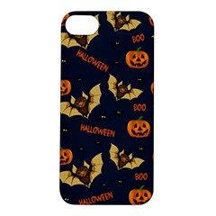 Bat, Pumpkin And Spider Pattern Apple Iphone 5s/ Se Hardshell Case by Valentinaart