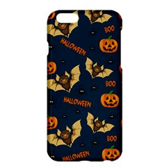 Bat, Pumpkin And Spider Pattern Apple Iphone 6 Plus/6s Plus Hardshell Case by Valentinaart