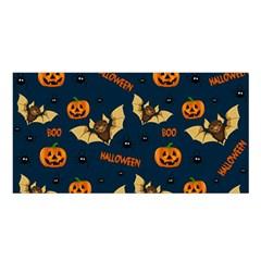Bat, Pumpkin And Spider Pattern Satin Shawl by Valentinaart