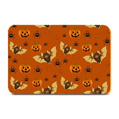 Bat, Pumpkin And Spider Pattern Plate Mats by Valentinaart