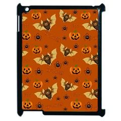 Bat, Pumpkin And Spider Pattern Apple Ipad 2 Case (black) by Valentinaart
