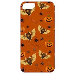 Bat, Pumpkin And Spider Pattern Apple Iphone 5 Classic Hardshell Case by Valentinaart