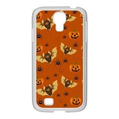 Bat, Pumpkin And Spider Pattern Samsung Galaxy S4 I9500/ I9505 Case (white) by Valentinaart