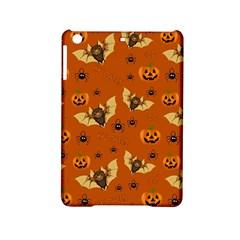Bat, Pumpkin And Spider Pattern Ipad Mini 2 Hardshell Cases by Valentinaart