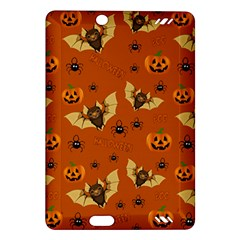 Bat, Pumpkin And Spider Pattern Amazon Kindle Fire Hd (2013) Hardshell Case by Valentinaart