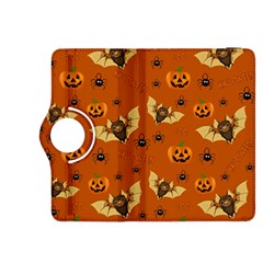 Bat, Pumpkin And Spider Pattern Kindle Fire Hdx 8 9  Flip 360 Case by Valentinaart