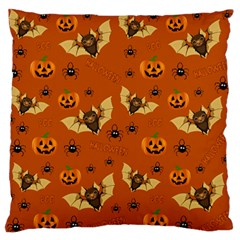 Bat, Pumpkin And Spider Pattern Standard Flano Cushion Case (two Sides) by Valentinaart