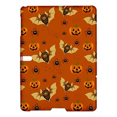 Bat, Pumpkin And Spider Pattern Samsung Galaxy Tab S (10 5 ) Hardshell Case  by Valentinaart