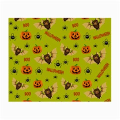 Bat, Pumpkin And Spider Pattern Small Glasses Cloth by Valentinaart