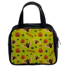 Bat, Pumpkin And Spider Pattern Classic Handbags (2 Sides) by Valentinaart