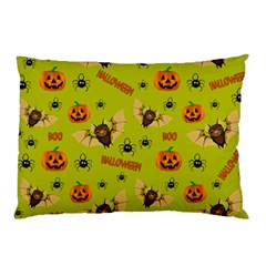 Bat, Pumpkin And Spider Pattern Pillow Case (two Sides) by Valentinaart