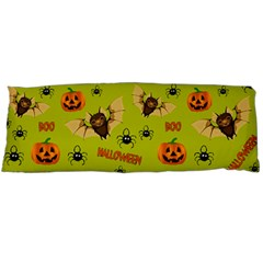 Bat, Pumpkin And Spider Pattern Body Pillow Case Dakimakura (two Sides) by Valentinaart