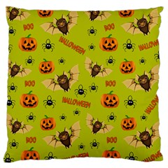 Bat, Pumpkin And Spider Pattern Large Cushion Case (two Sides) by Valentinaart