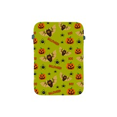 Bat, Pumpkin And Spider Pattern Apple Ipad Mini Protective Soft Cases by Valentinaart
