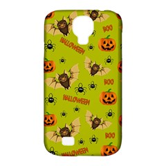Bat, Pumpkin And Spider Pattern Samsung Galaxy S4 Classic Hardshell Case (pc+silicone) by Valentinaart