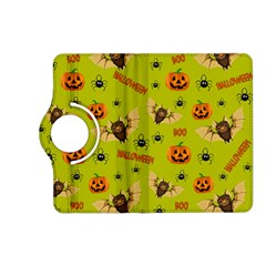 Bat, Pumpkin And Spider Pattern Kindle Fire Hd (2013) Flip 360 Case by Valentinaart