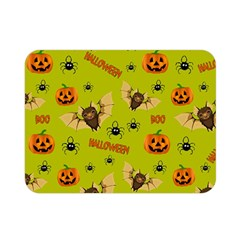 Bat, Pumpkin And Spider Pattern Double Sided Flano Blanket (mini)  by Valentinaart