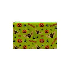 Bat, Pumpkin And Spider Pattern Cosmetic Bag (xs) by Valentinaart