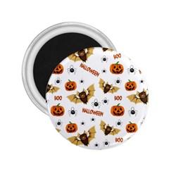 Bat, Pumpkin And Spider Pattern 2 25  Magnets by Valentinaart