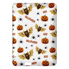 Bat, Pumpkin And Spider Pattern Kindle Fire Hdx Hardshell Case by Valentinaart