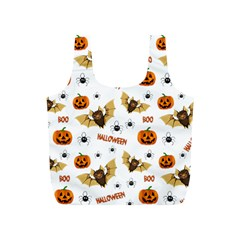 Bat, Pumpkin And Spider Pattern Full Print Recycle Bags (s)  by Valentinaart