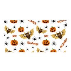 Bat, Pumpkin And Spider Pattern Satin Wrap by Valentinaart