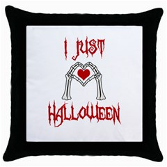 I Just Love Halloween Throw Pillow Case (black)